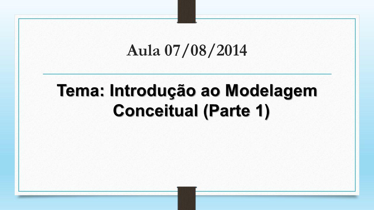 Tema: Introdução ao Modelagem Conceitual (Parte 1)