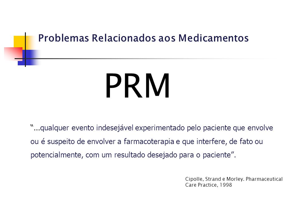 PRM Problemas Relacionados aos Medicamentos