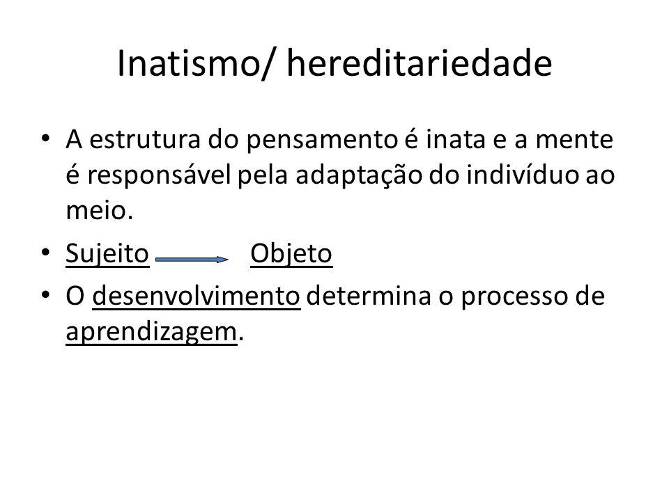 Inatismo/ hereditariedade