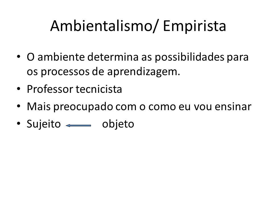 Ambientalismo/ Empirista