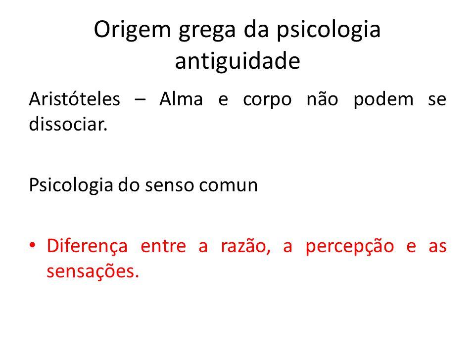 Origem grega da psicologia antiguidade