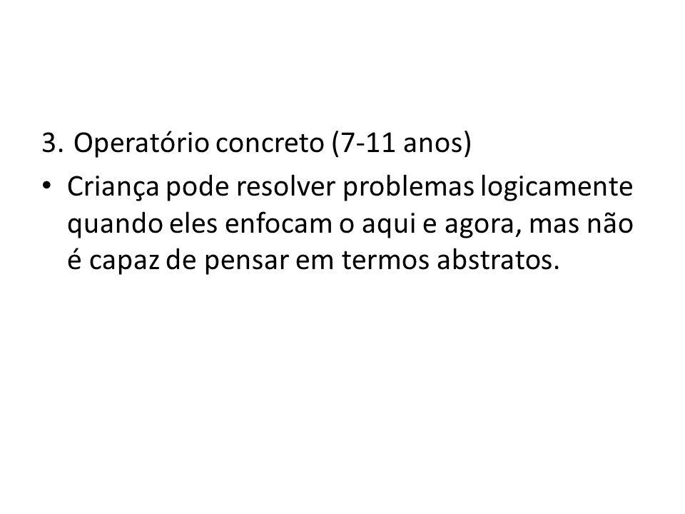 Operatório concreto (7-11 anos)