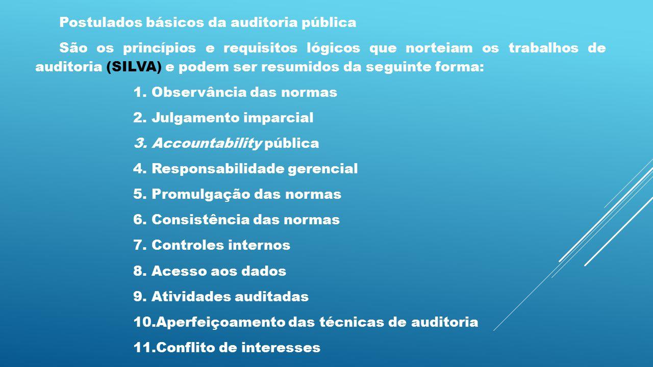 Postulados básicos da auditoria pública