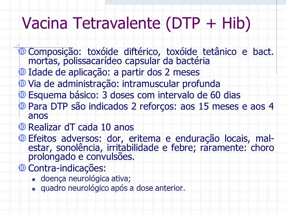 Vacina Tetravalente (DTP + Hib)
