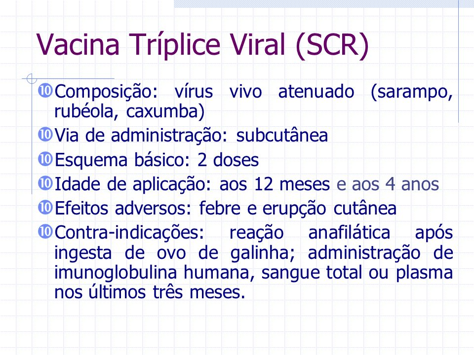 Vacina Tríplice Viral (SCR)