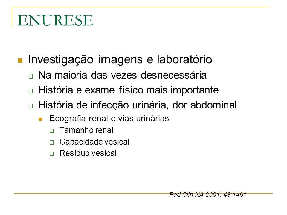 ENURESE Investigação imagens e laboratório