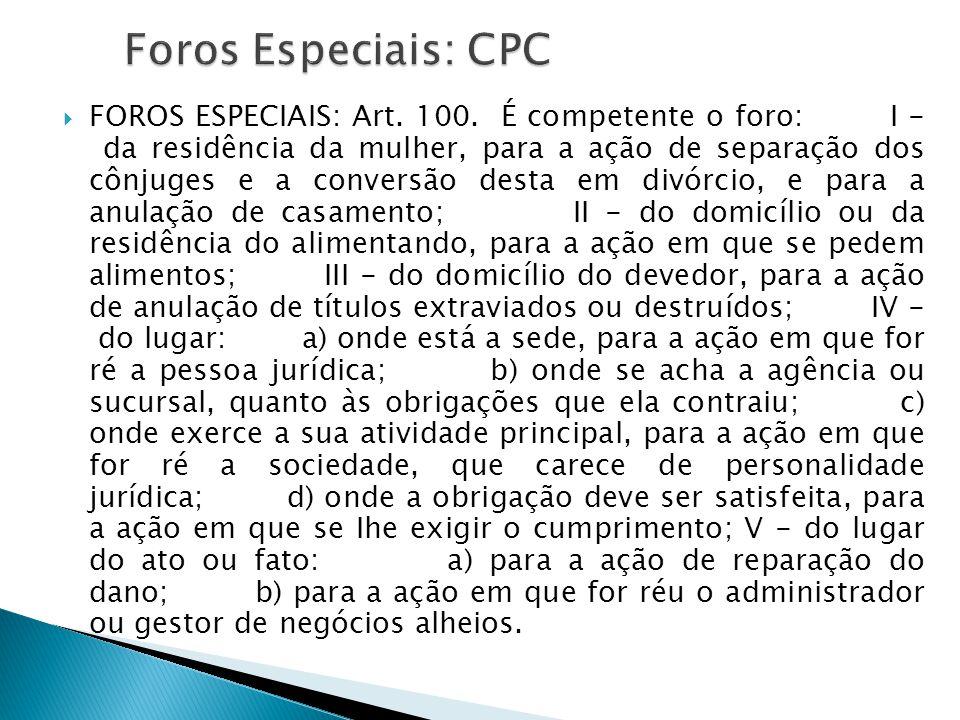 Foros Especiais: CPC
