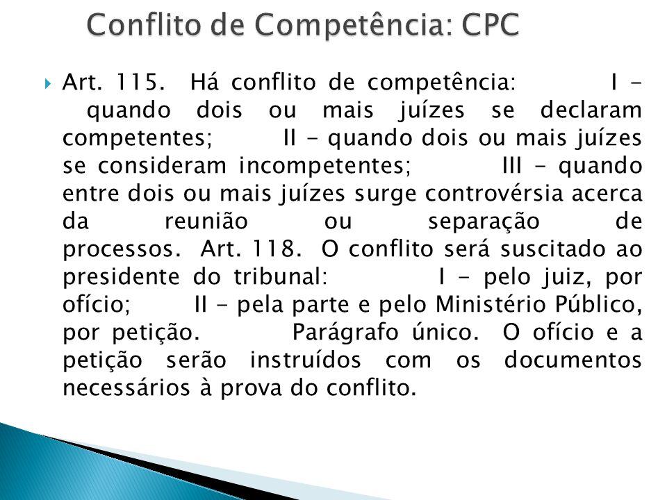 Conflito de Competência: CPC