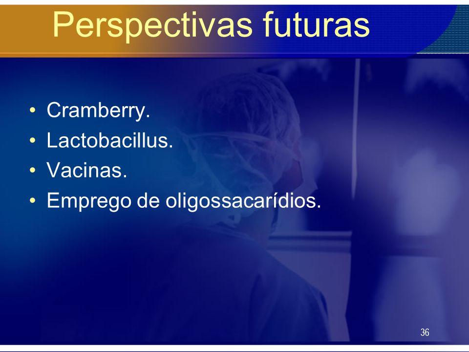 Perspectivas futuras Cramberry. Lactobacillus. Vacinas.