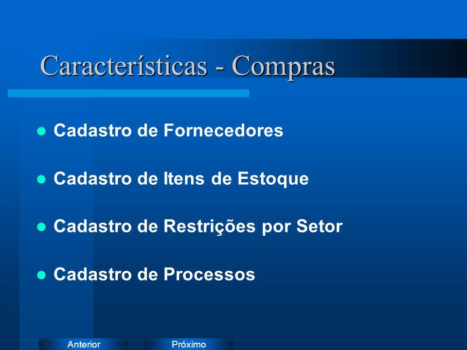 Características - Compras