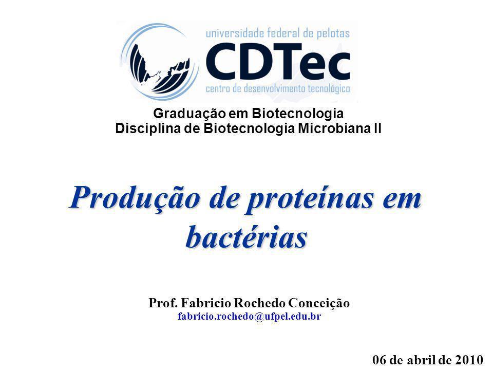 Produção de proteínas em bactérias