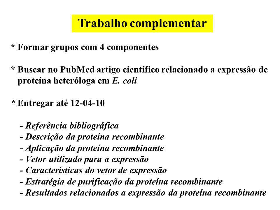 Trabalho complementar
