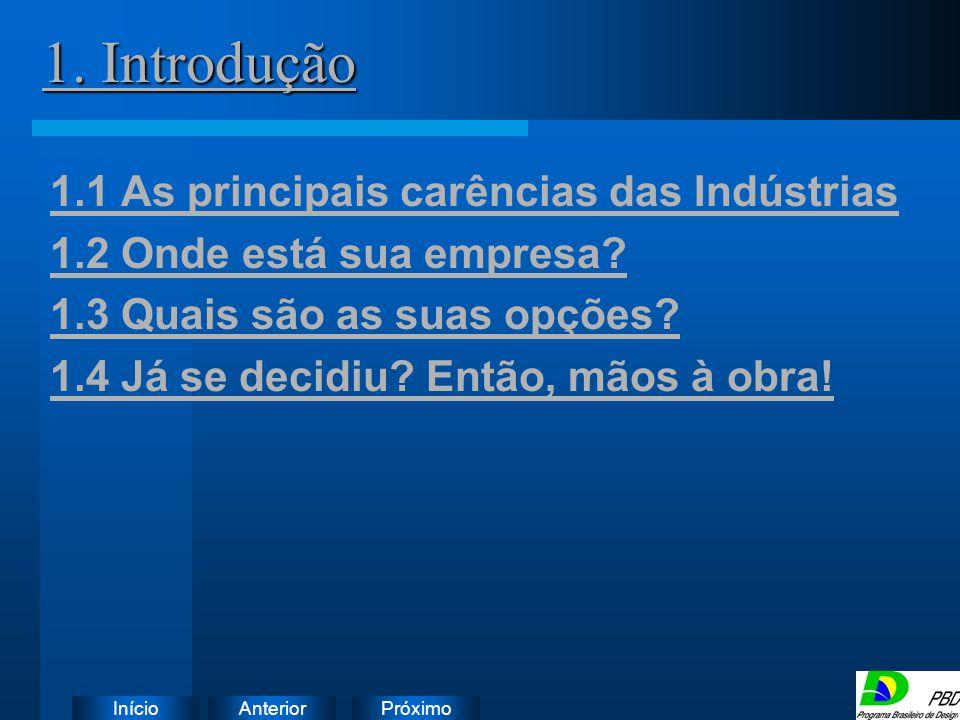 1. Introdução 1.1 As principais carências das Indústrias