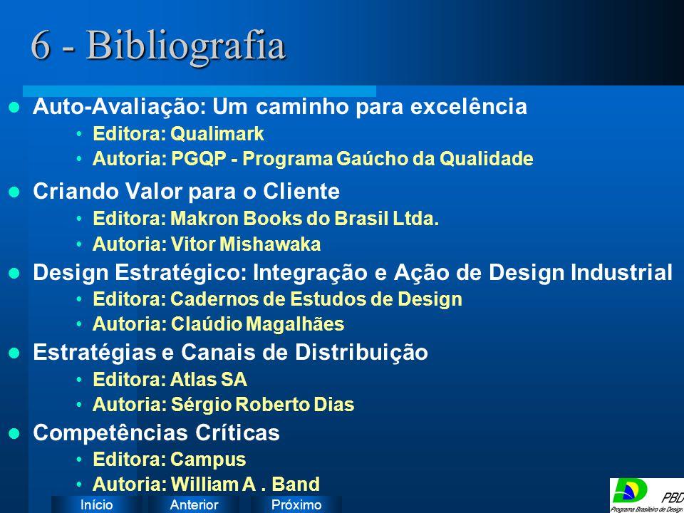 6 - Bibliografia Instruções:
