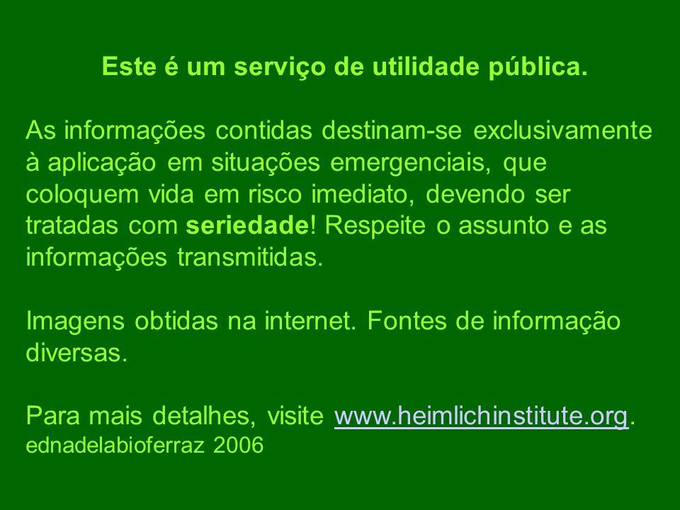 Este é um serviço de utilidade pública.