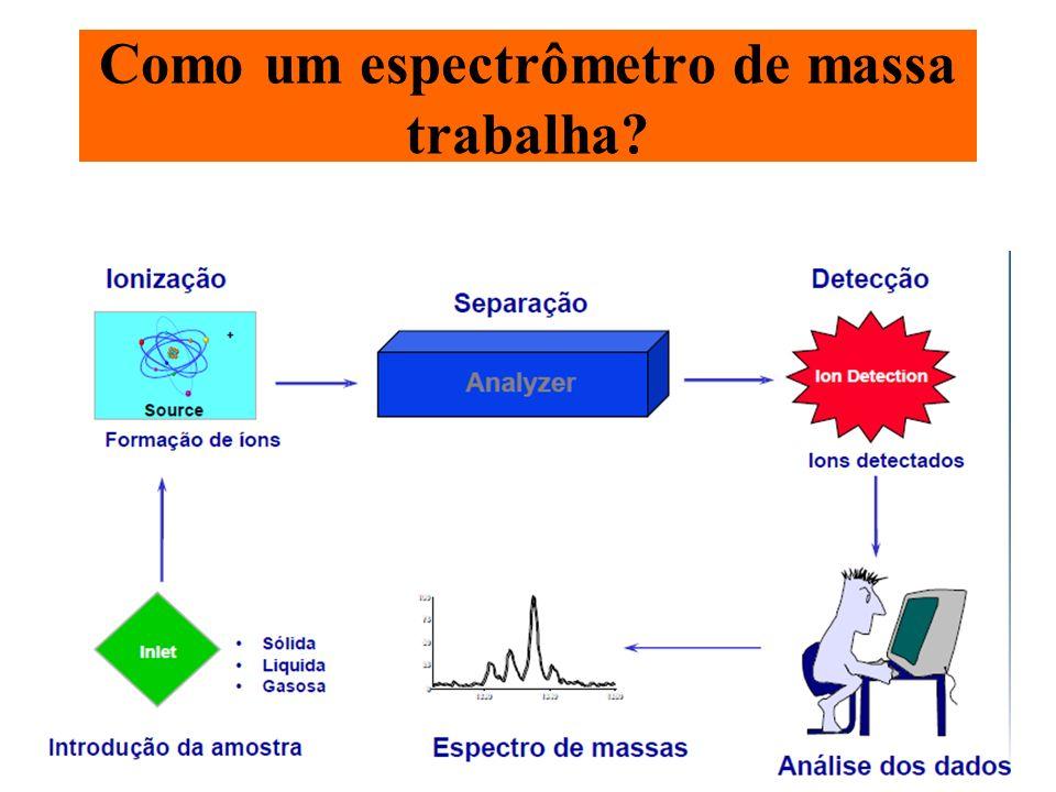 Como um espectrômetro de massa trabalha