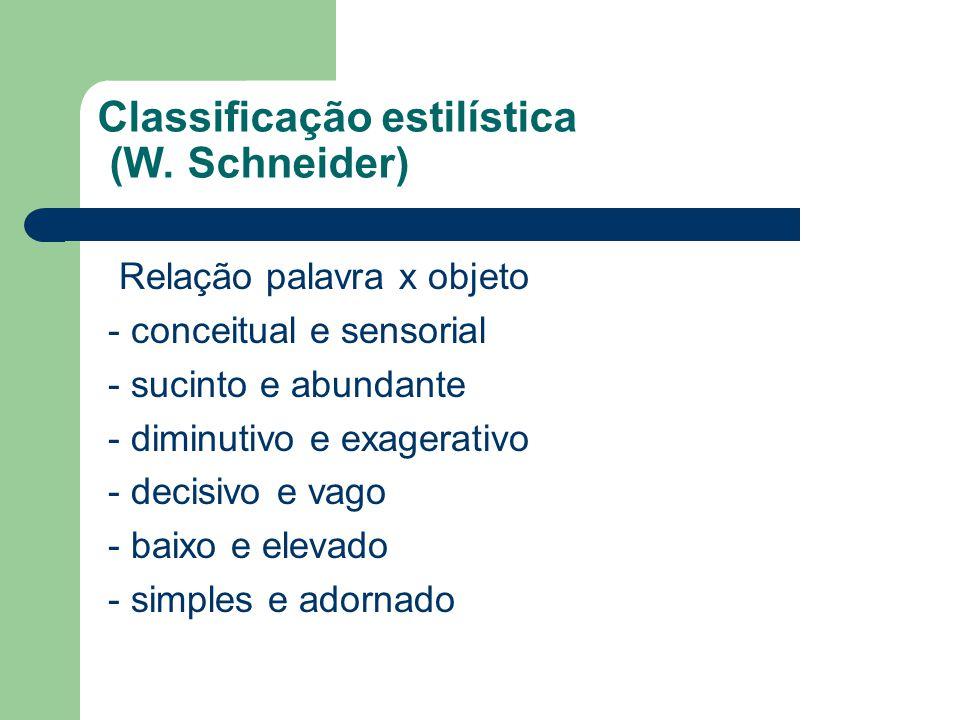 Classificação estilística (W. Schneider)