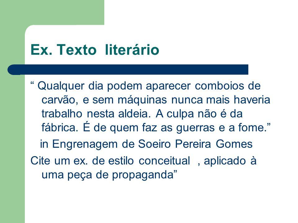 Ex. Texto literário