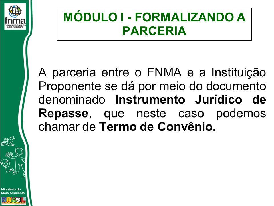 MÓDULO I - FORMALIZANDO A PARCERIA