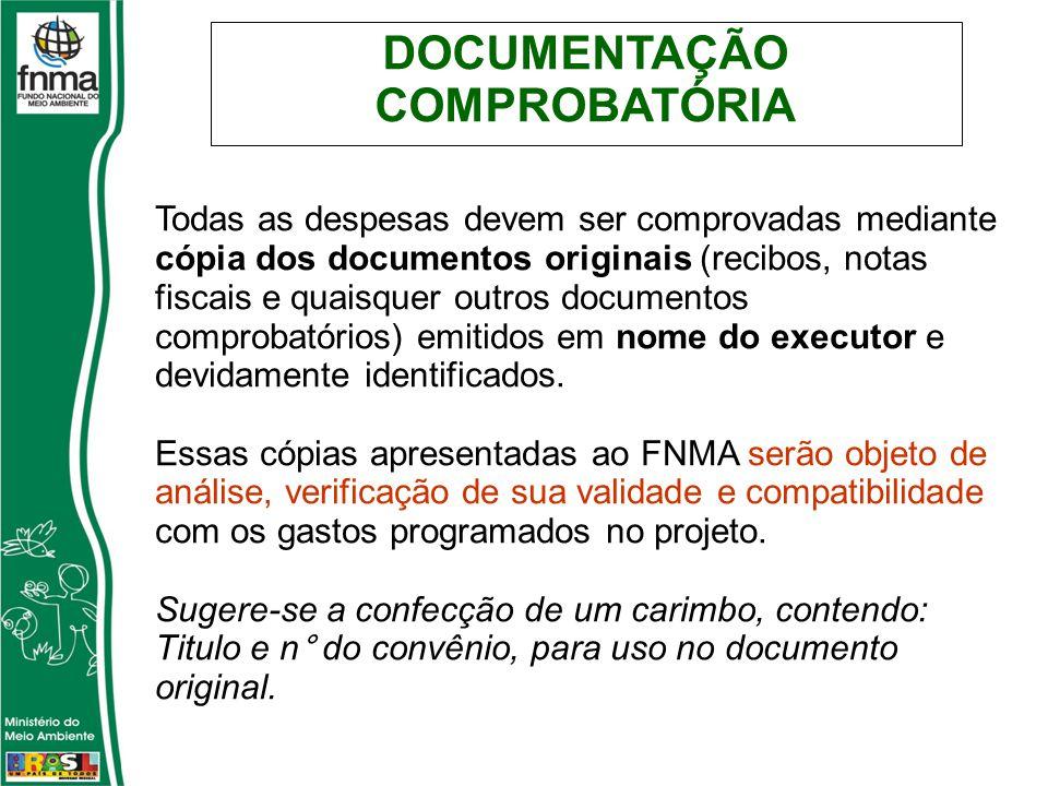 DOCUMENTAÇÃO COMPROBATÓRIA