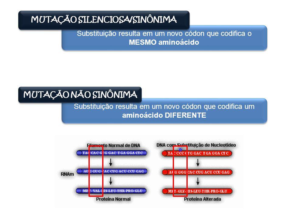 MUTAÇÃO SILENCIOSA/SINÔNIMA