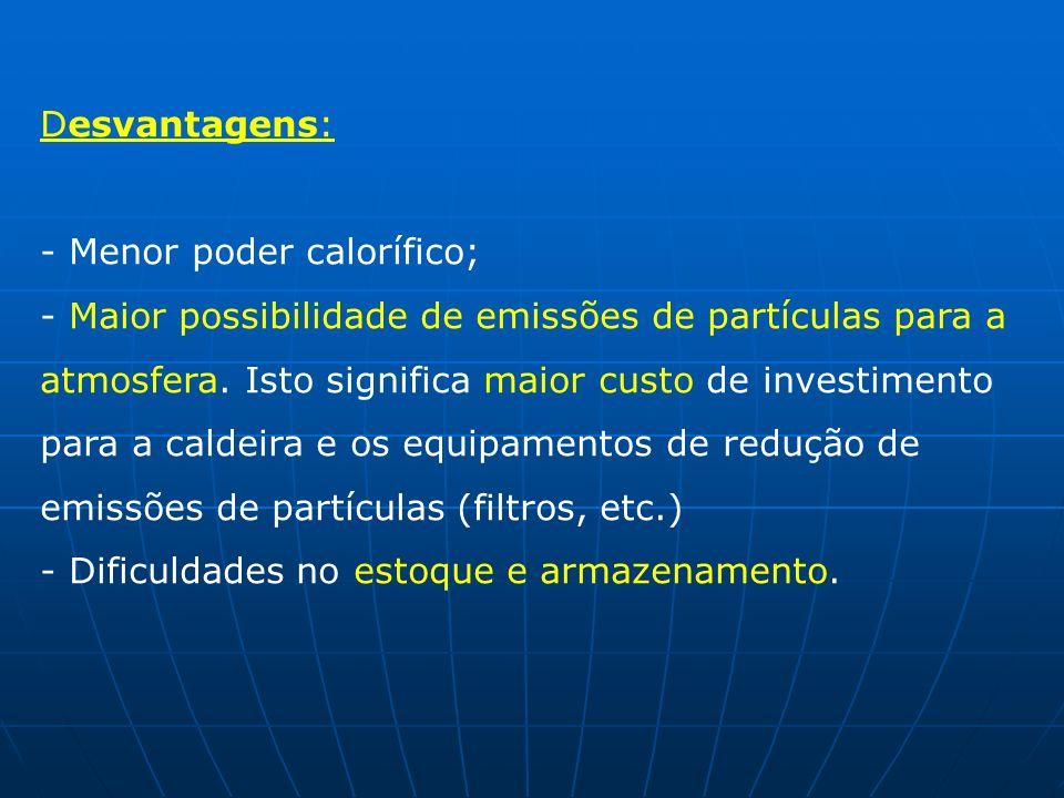 Desvantagens: