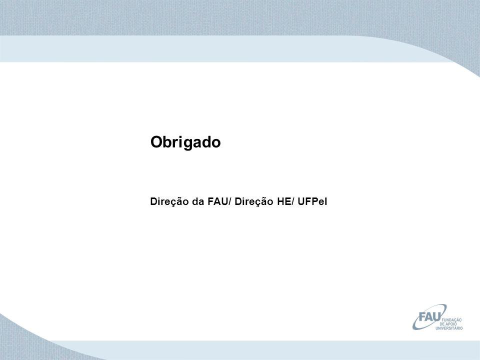 Obrigado Direção da FAU/ Direção HE/ UFPel