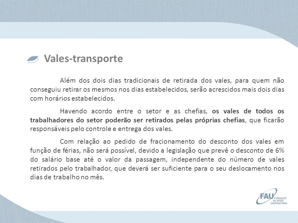 Vales-transporte