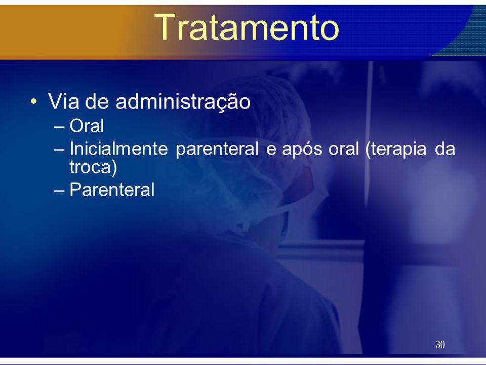 Tratamento Via de administração Oral