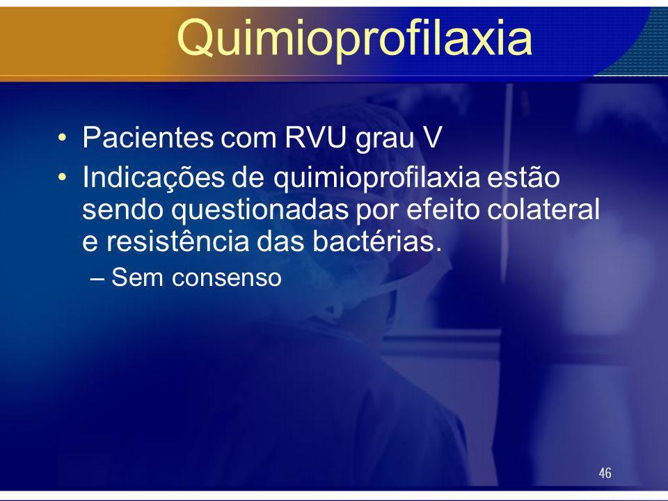 Quimioprofilaxia Pacientes com RVU grau V
