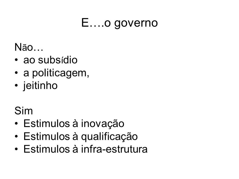 E….o governo Não… ao subsídio a politicagem, jeitinho Sim