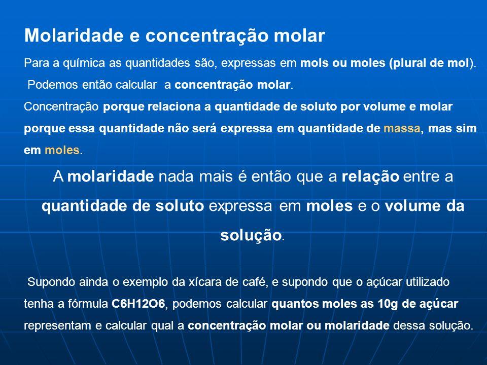 Molaridade e concentração molar