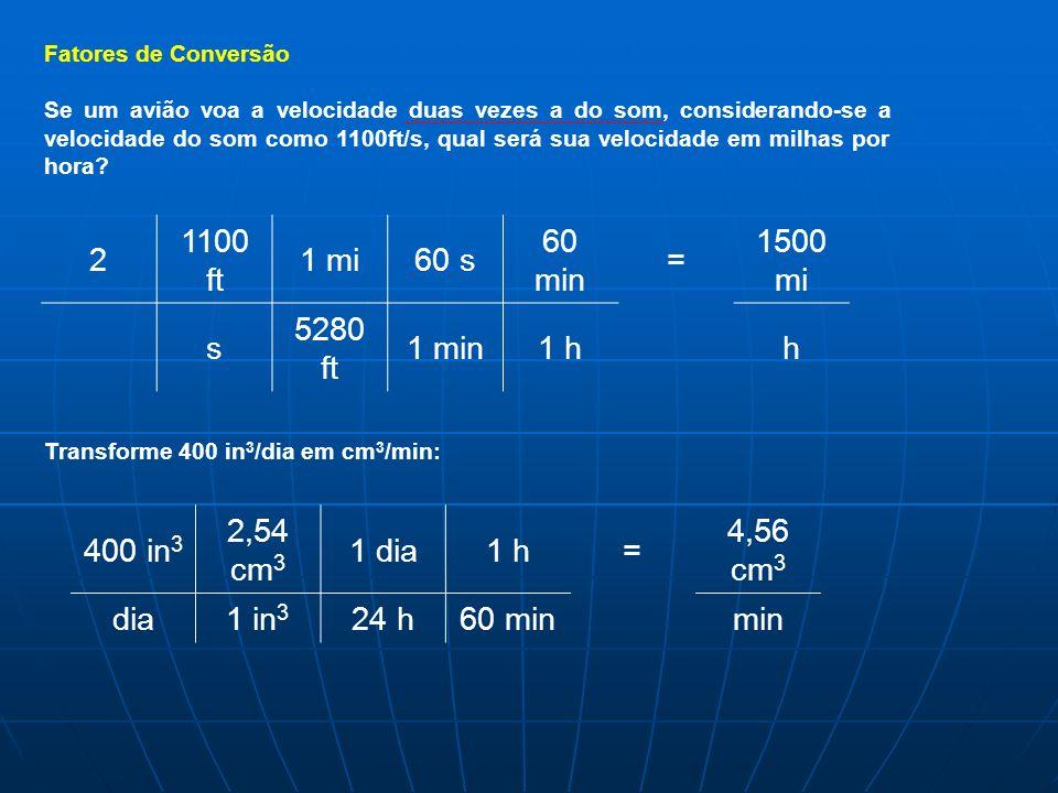 2 1100 ft 1 mi 60 s 60 min = 1500 mi s 5280 ft 1 min 1 h h 400 in3