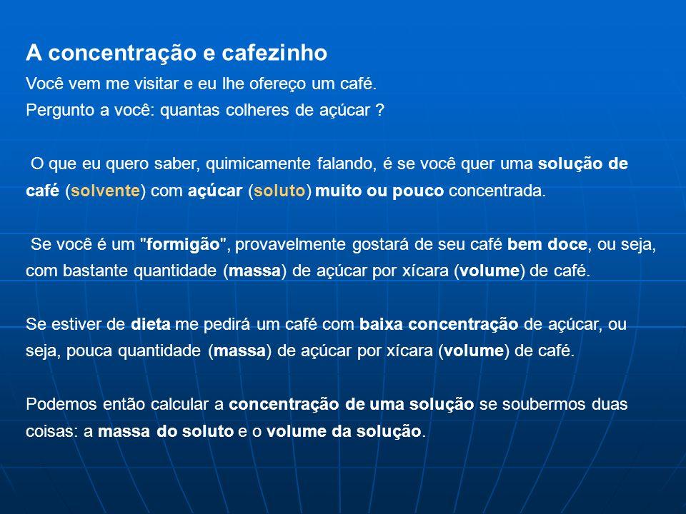A concentração e cafezinho