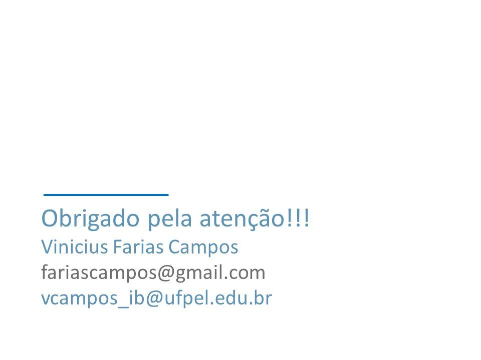 Obrigado pela atenção!!! Vinicius Farias Campos fariascampos@gmail.com