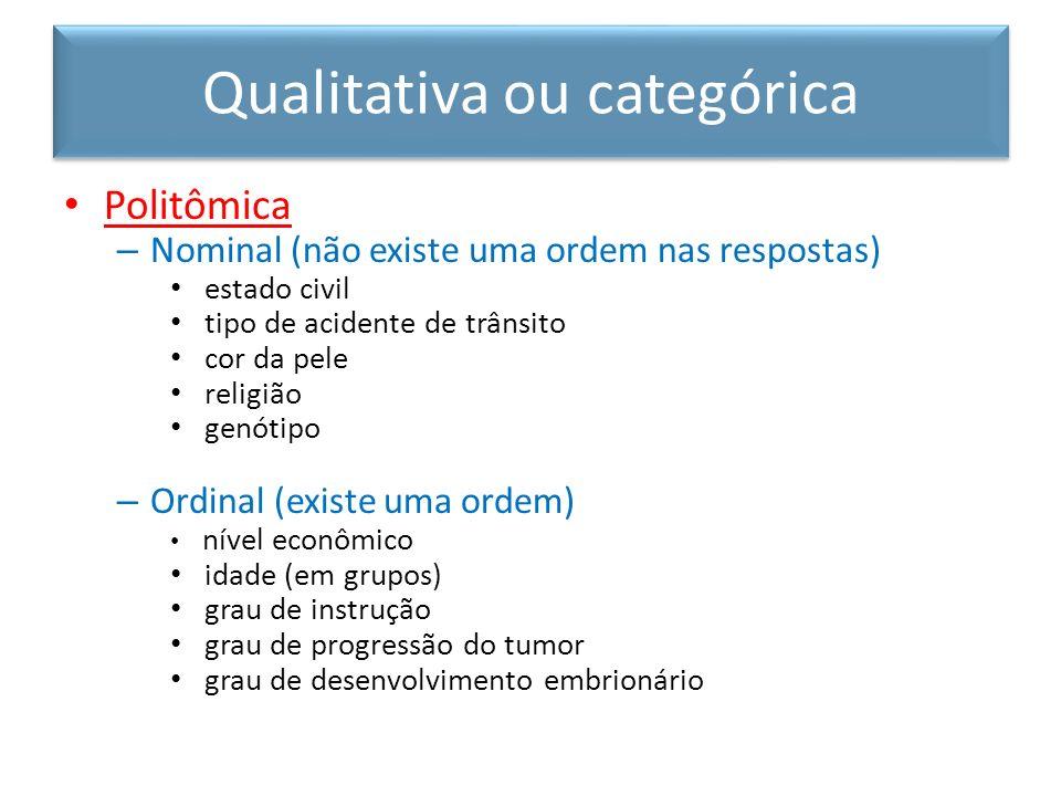 Qualitativa ou categórica