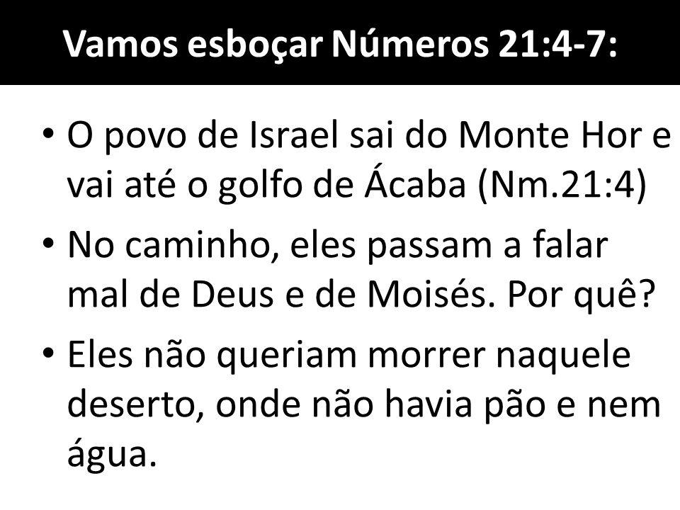 Vamos esboçar Números 21:4-7: