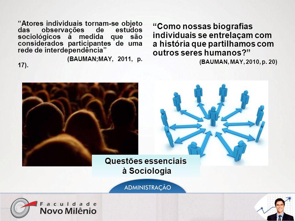 Questões essenciais à Sociologia