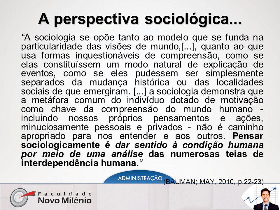 A perspectiva sociológica...