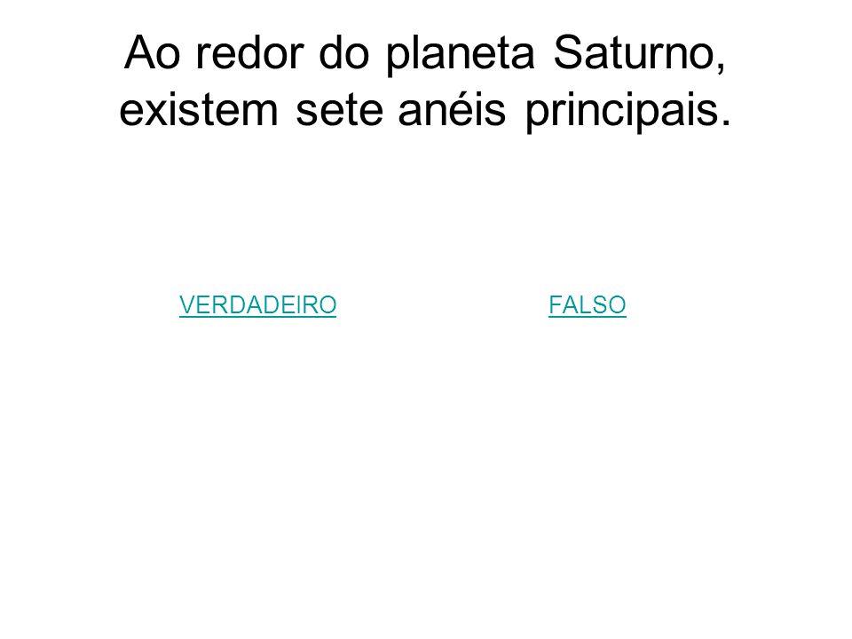 Ao redor do planeta Saturno, existem sete anéis principais.