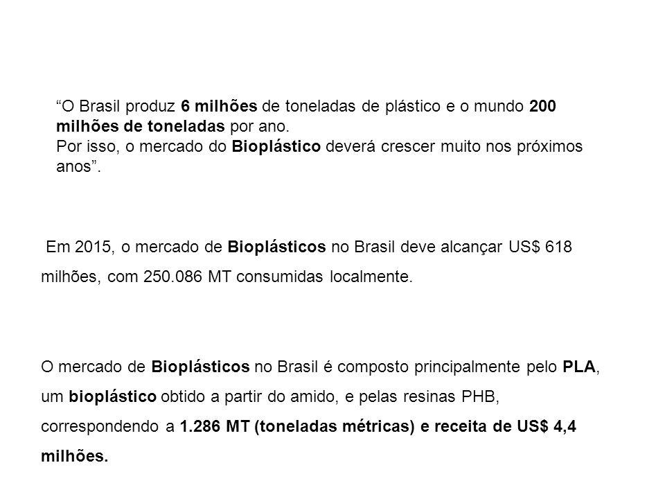 O Brasil produz 6 milhões de toneladas de plástico e o mundo 200 milhões de toneladas por ano.