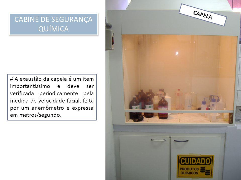 CABINE DE SEGURANÇA QUÍMICA