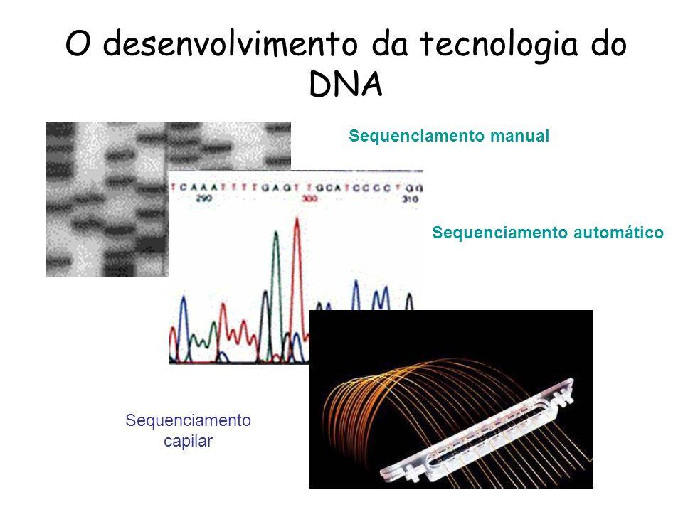 O desenvolvimento da tecnologia do DNA