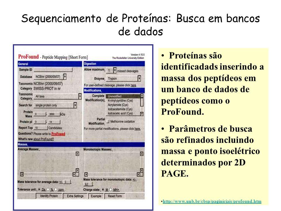 Sequenciamento de Proteínas: Busca em bancos de dados