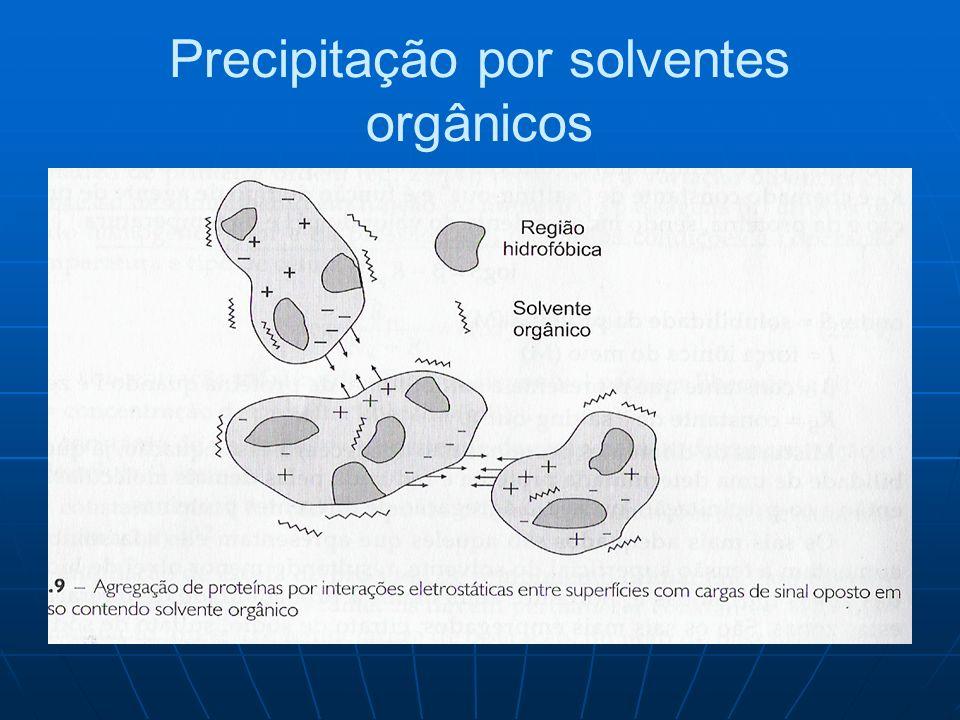 Precipitação por solventes orgânicos