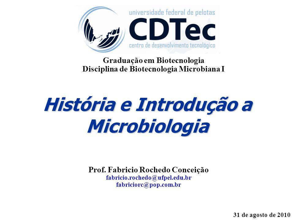 História e Introdução a Microbiologia