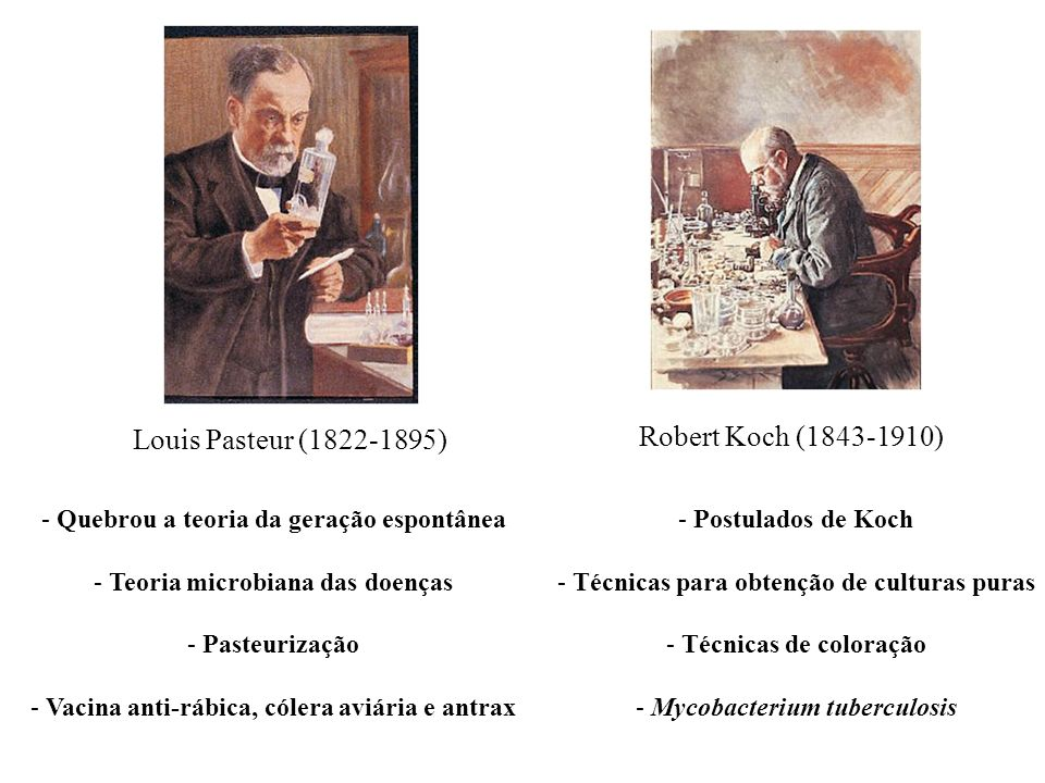 Robert Koch (1843-1910) Louis Pasteur (1822-1895)