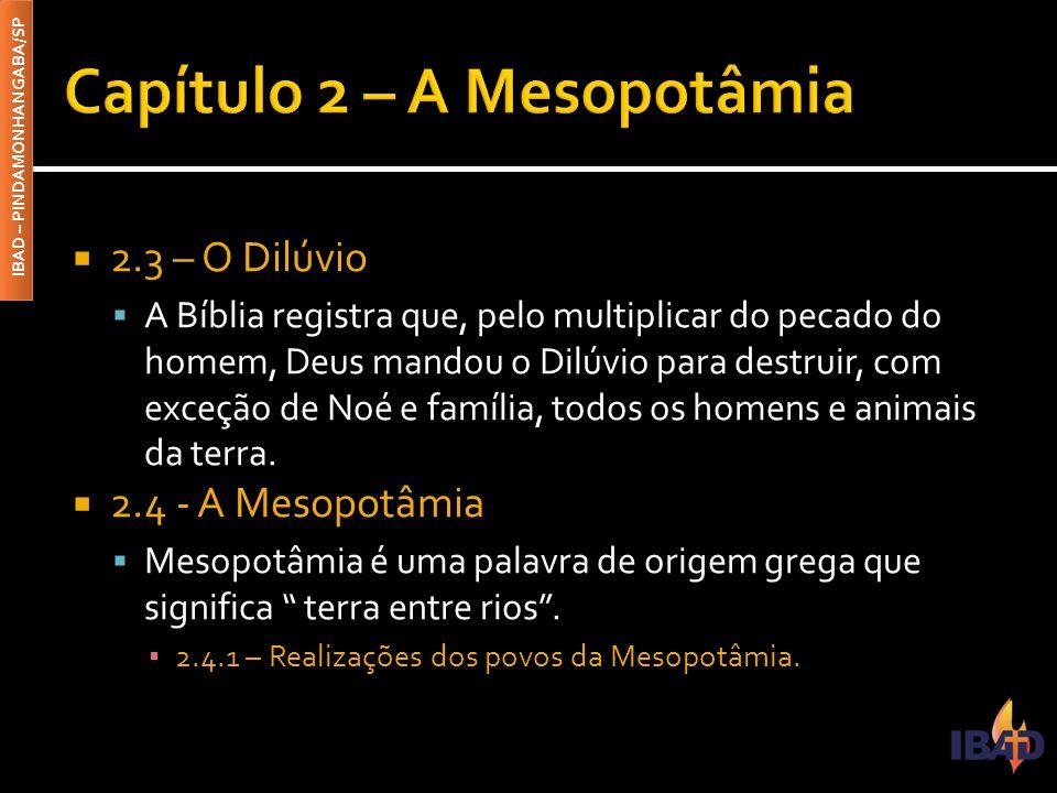 Capítulo 2 – A Mesopotâmia