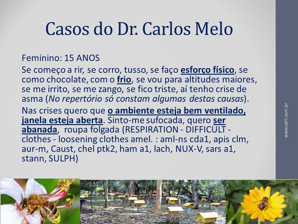 Casos do Dr. Carlos Melo Feminino: 15 ANOS