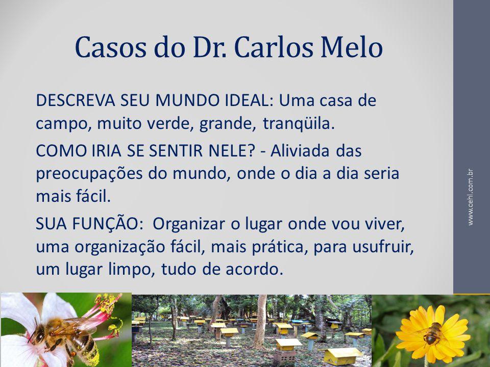 Casos do Dr. Carlos Melo DESCREVA SEU MUNDO IDEAL: Uma casa de campo, muito verde, grande, tranqüila.
